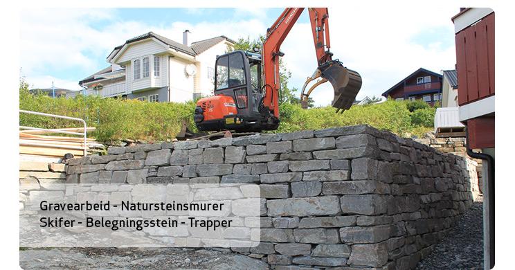 Gravearbeid og natursteinsmur